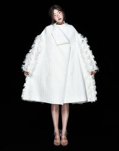 Sculptural Fashion with voluminous silhouette & textured surface detail; 3D fashion // Minju Kim