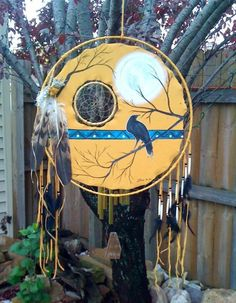 "Spiritual, Inspirational, Beautiful!!!<> ""Ravens Moon"" Dream Catcher/Medicine Shield by Lozen BrownBear"