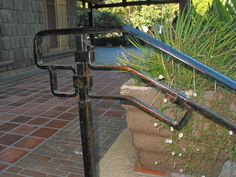 stair handrail at the Gamble House in Pasadena Gamble House, Stair Handrail, Elements Of Style, Building A New Home, Garden Bridge, Porch Railings, This Is Us, New Homes, Stairs