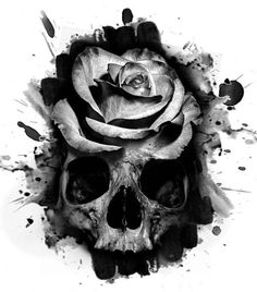 None of these images are mine =) Skull Rose Tattoos, Rose Flower Tattoos, Feather Tattoos, Body Art Tattoos, Hand Tattoos, Sleeve Tattoos, Skull Tattoo Design, Tattoo Designs, Tattoo Sketches