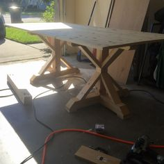 Farmhouse Table Build - Frills and Drills tables restoration