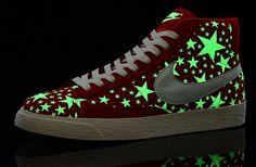 Soldes Chaussures Nike Blazer Milieu Glow Fille Femme Rouge Blanc-31