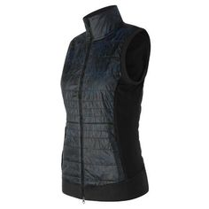 New Balance 63121 Women's NB Heat Hybrid Vest - Navy (WV63121GFP)