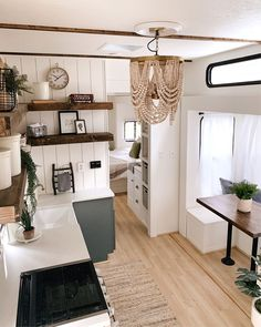 Van Living, Tiny House Living, Living Room, Rv Homes, Tiny Homes, Trailer Decor, Van Home, Remodeled Campers, Tiny House Design