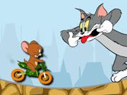 Tom is harassing Jerry all the time, so he decided to buy himself some mini bike that will help him to escape from the annoying Tom. Since he has no driving experience, you have to help him in getting some. Keep him balanced while he is driving his bike and collecting delicious slices of cheese!