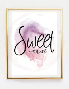 HARRY STYLES // Sweet Creature Lyric Poster, Printable Watercolor Harry Styles Wall Art Decor, Harry Styles Simple Art Décor Poster by ThatMugShot on Etsy