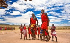 The Maasai (also called Masai) are a Nilotic ethnic group of semi-nomadic people located in Kenya and northern Tanzania. Due to their distinctive customs, dress and residence near the many game parks of East Africa, they are among the most well known of African ethnic groups. (How awesome are the colours in this picture!)
