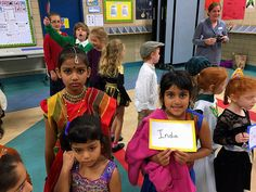 I choose this picture because it shows children from different background, wore different cultural outfits. It shows multiculturalism.