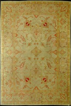 Antique Turkish Oushak Area Rug