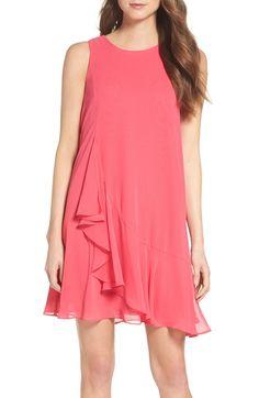 Main Image - Eliza J Asymmetrical Swing Dress (Regular & Petite)