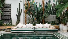 Le Riad, Riad Marrakech, Marrakesh, Porches, Morocco Hotel, Moroccan Garden, Outdoor Spaces, Outdoor Decor, London House