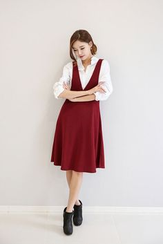 Suspenders Flared Skirt