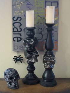 Spooky Candlestick DIY Project