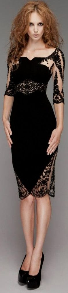 Love this beautiful lace dress- her hair reminds me of Helen Bonham-Carter, though.