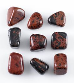 Mahogany Obsidian Tumbled Stones - Two Genuine Natural Mahogany Obsidian Gemstones, Crystals and Healing Stones Healing Stones, Crystal Healing, Obsidian Stone, Meditation Stones, Tumbled Stones, Rocks And Minerals, Macro Photography, Stones And Crystals, Unique Gifts