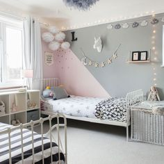 Looking for girls& bedroom ideas? A girls& bedroom needs to be a flexibl. Looking for girls& bedroom ideas? A girls& bedroom needs to be a flexible space, accommodating their changing needs from babyhood through to teenage years Teen Girl Rooms, Teenage Girl Bedrooms, Shared Girls Rooms, Boy Girl Room, Girls Bedroom Furniture, Home Decor Bedroom, Bedroom Table, Bedding Decor, Budget Bedroom