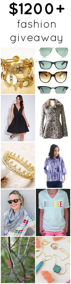 BEST GIVEAWAY EVER. Enter to win $1200+ of fashion prizes including trendy clothes and jewelry!