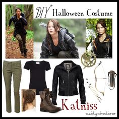 """""""DIY Halloween Costume: Katniss Everdeen"""" by swifty-directioner on Polyvore"""