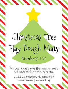 Christmas Tree Play Dough Mats
