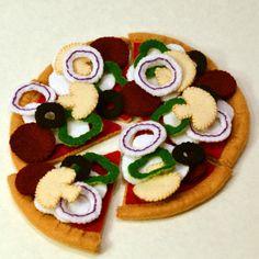Felt Food Pizza Children's Play Food  Ask a Question $40.00