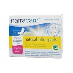 Absorvente orgânico Natracare Super Plus Ultra Pads com 12 absorventes- Lohas Store