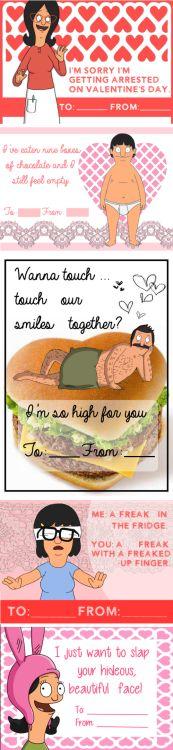 Bob's Burgers Valentine's Day cards.