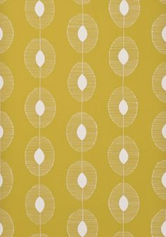 Dewdrops Citron Wallpaper by MissPrint