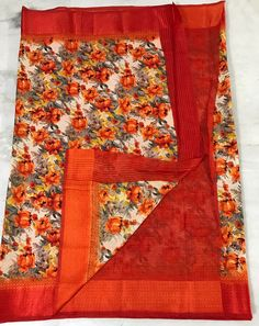 online womens traditional sarees Floral Print Sarees, Printed Sarees, Floral Prints, Kota Silk Saree, Silk Sarees, Bacon Wrapped Chicken Tenders, Traditional Sarees, Digital Prints, Corner