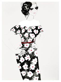 Fashion Illustration, Chanel, Haute Couture Spring/ Summer 2013, Fashion...