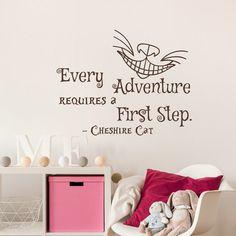Alice in Wonderland Vinyl Wall Decal Every Adventure by HomyVinyl