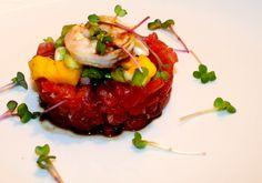 Tuna Tartar with Mango Tuna Tartar, Mango Salat, Starters, Salad, Beef, Fish, Recipes, German, Finger Food Recipes