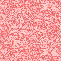 Havana Lilies in Coral fabric by Femi Ford on Spoonflower.  also visit www.femiford.com