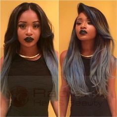 Dye your hair simple & easy to ash grey hair color - temporarily use dim grey hair dye to achieve brilliant results! DIY your hair grey with hair chalk Hair Cute, Love Hair, Gorgeous Hair, Weave Hairstyles, Pretty Hairstyles, Black Hairstyles With Weave, Dark Grey Hair Color, Gray Hair, Grey Ombre