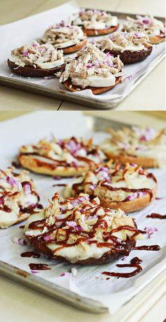 Bbq chicken pizza bagels