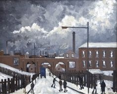 Geoffrey W Birks - Paintings for Sale - Clark Art Ltd - Specialists in L. Lowry and Modern British Art Clark Art, Urban Life, Paintings For Sale, Home Art, My Arts, British, Industrial, Leeds, Street