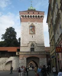 Florianska Gate -built in 1307