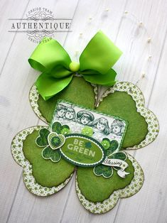 "Authentique Paper: A ""Lucky"" Charm for Your Home! by Shellye McDaniel #st_patricks_day #wall_hanging"
