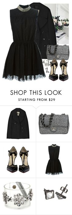"""Black and Silver"" by loveraige ❤ liked on Polyvore featuring Burberry, Chanel, Yves Saint Laurent and Made Her Think"