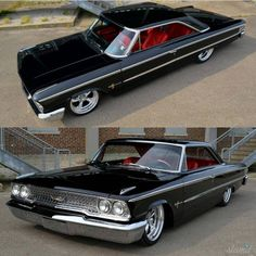 Smooth Ford Galaxie with a swap ! Custom Wheels, Custom Cars, Muscle Cars, Ford Classic Cars, Ford Fairlane, Old Fords, Performance Cars, Us Cars, Ford Motor Company