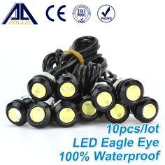 Envío Gratis 10 unids Alto brillo DRL Águila Ojo Luz de trabajo Del Coche LED de Circulación Diurna Luces de Fuente de luz de Estacionamiento A Prueba de agua
