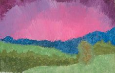 Monet Ballinger, a sixth-grader at Edison Middle School in Janesville, used tempera paints to create this landscape image.