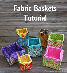 Fabric Basket Tutorial at Freemotion by the River