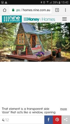 Tiny Houses, Cabin, Windows, Doors, House Styles, Home Decor, Small Homes, Decoration Home, Room Decor