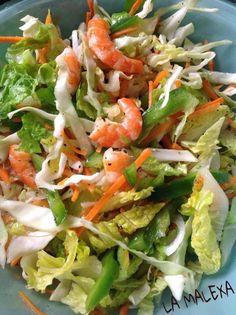 Tostadas de ensalada de camarón por La Malexa Ce #ensalada #tostadas #camaron #diy #platillo #chef #easy #receta #recetasitacate #itacate #aniversario #fiestas  #ligth