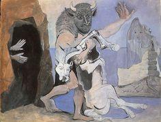Picasso, Minotaure devant une grotte, 1936