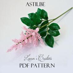 Digital Downloadable PDF Pattern for French Beaded Astilbe - by Lauren Harpster. The file is available for download immediately after purchase. Difficulty Rating: Beginner The pattern is 9 pages long and contains over 20 quality pictures along with written...