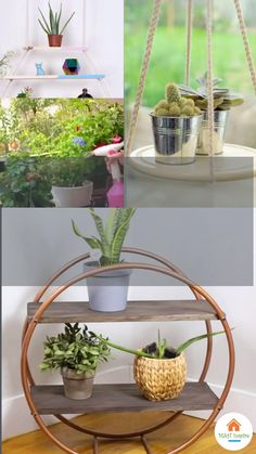 House Plants Decor, Plant Decor, Diy Décoration, Easy Diy, Craft Shelves, Diy Furniture Easy, Diy Plant Stand, Flower Stands, Diy Home Decor