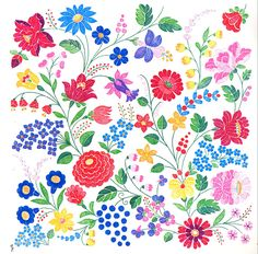 FolkCostume&Embroidery: Embroidery of Kalocsa, Bács-Kiskun county, Hungary