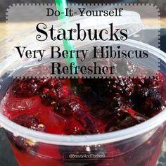 Homemade Very Berry Hibiscus Refresher a la Starbucks