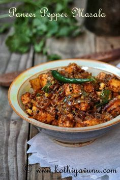 Dry paneer with pepper Paneer Dishes, Veg Dishes, Food Dishes, Curry Recipes, Vegetarian Recipes, Cooking Recipes, Rice Recipes, Veggie Recipes, Cooking Tips